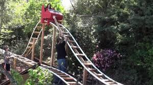 roller coaster for backyard world s best dad builds amazing backyard roller coaster video