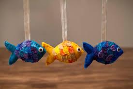 felt fish ornaments the vegan