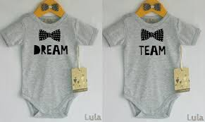 Cute Clothes For Babies Twins Baby Boy Clothes Dream Team Twins Baby Bodysuit Baby