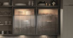 glass kitchen cabinet doors uk second nature pws second nature kitchen feature fluted