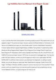 lg 3d blu ray home theater system manual lg hx906ta service manual and repair guide by dwaincollado issuu