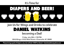 baby shower invitations for men chuggies beer and diaper party invitations babies for men dads
