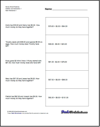 word problem worksheets for 3rd grade grade 2 math word problems