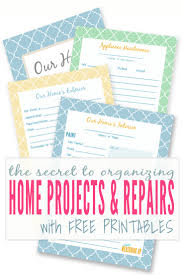 home projects diy home improvement printables keeping a master binder of home