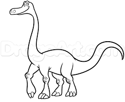 how to draw arlo from the good dinosaur step by step disney