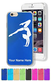 personalized engraving for iphone 6 6s gymnast handstand