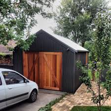 barn style garage doors western red cedar woodland grey