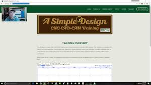 introduction to a simple design cnc cad cam training youtube