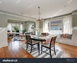 view classic dining room gray walls stock photo 474238777