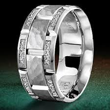 18k white gold wedding band carlex hammered white gold wedding band wb 9475 s