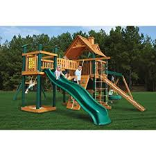 Amazon Backyard Playsets by Amazon Com Outdoor Playset With Slide Climbing Activities