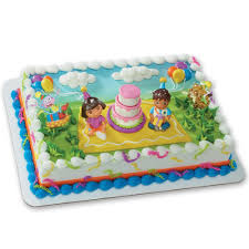 deco cake topper the explorer birthday celebration decoset cake