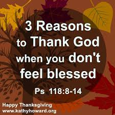 how can we celebrate thanksgiving and show gratitude to god if we