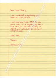 professional letters templates yellow letter templates yellow letters complete investor cash buyer as is