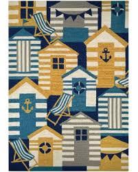 Couristan Outdoor Rugs Sale Couristan Outdoor Escape Hut Navy Multicolor
