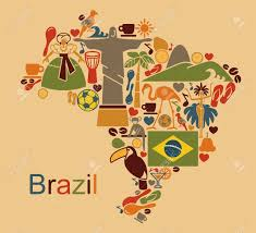 Map From Map From Traditional Symbols Of Culture And The Nature Of Brazil