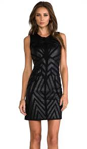 greylin ollie faux leather cut out dress in black revolve