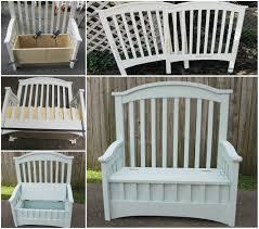 Storage Seat Bench Wonderful Diy Upcycled Chair Bench