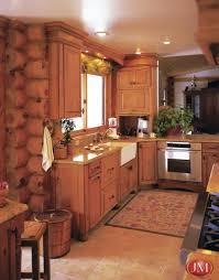 log cabin kitchens with islandscustom log cabin kitchen and bath