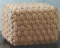 roost home decor roost ba147 seagrass cube traditional pouf rst ba147
