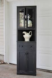 corner hutch black distressed corner hutch u2014 vintage farm