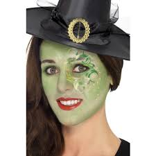 green pretty witch make up halloween face paint kit 44410