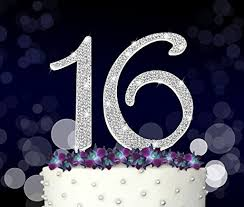 16 cake topper 16 cake topper 16th sweet 16 happy birthday