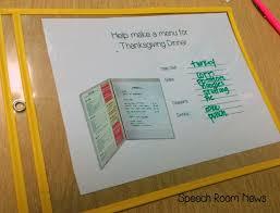 thanksgiving skills mini unit speech room news