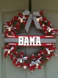alabama football wreaths and door decor of alabama