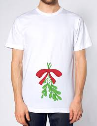 rude mistletoe t shirt funny humour christmas gift present
