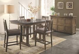 Round Glass Counter Pub Dining Table Set Steve Silver Crosspointe - Counter height dining table swivel chairs
