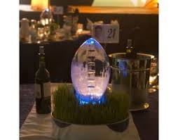 Football Centerpieces Ice Centerpieces In Miami 3d Football Ice Centerpiece So Cool