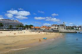 Cascais Portugal Map Praia Da Rainha Lisbon And Around Beaches Travel In Portugal