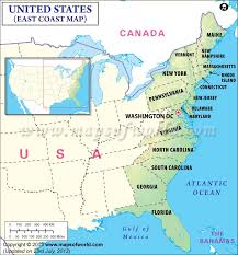northeast united states map with states and capitals map usa east coast states capitals major tourist