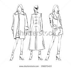 sketch fashion girls on white background stock vector 461024269