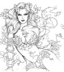 poison ivy coloring pages malvorlagen pinterest poison ivy
