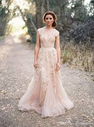 cheap bridal gowns discount blush arabic wedding dresses v neck sleeve vintage