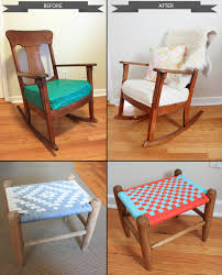 Rocking Chair Used Before U0026 After Rocking Chair With Stool Blog Wicked Mint