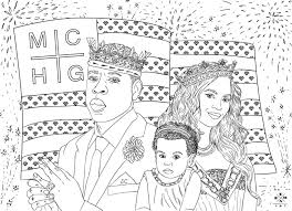 jay z beyonce u0026 blue ivy coloring page the july 4th american