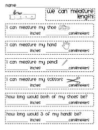 students can practice measuring in inches and centimeters 2nd