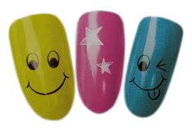 amazon com smiley face design nail art wrap water transfer decals