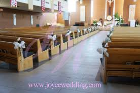 fresh flower pew wedding ceremony decoration joyce wedding