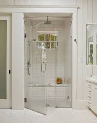 small steam shower home tour a mill valley remodel white subway tile shower