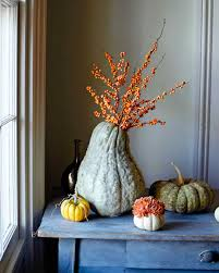 fall table arrangements how to make squash and pumpkin flower arrangements martha stewart