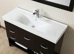 47 inch modern style single vanity cabinet