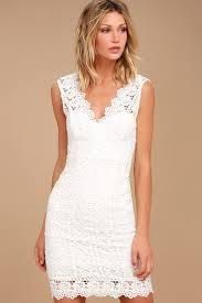white lace dress white dress lace dress lace bodycon dress lwd