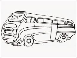hippie van drawing vw bus coloring page coloring home