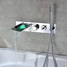 reston wall mount waterfall tub faucet brushed nickel ebay fascinating wall mount waterfall tub faucet chrome wall mount