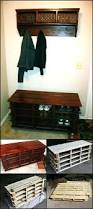 entry bench with cork board and wall pegssmall entryway shoe