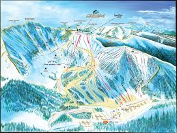 Colorado Mountain Map by Arapahoe Basin Trail Maps Ski Slopes Colorado